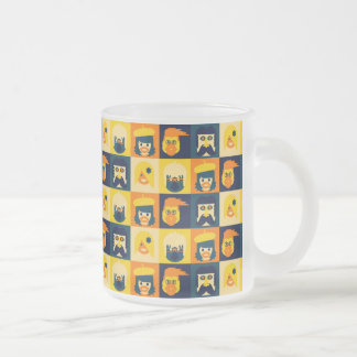 Funny Faces Frosted Glass Coffee Mug