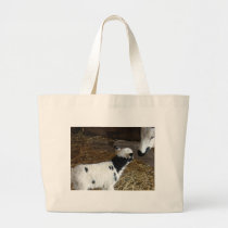 Funny Face's Lamb Large Tote Bag