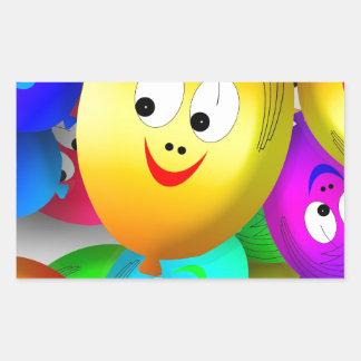 Funny Faces Rectangular Sticker