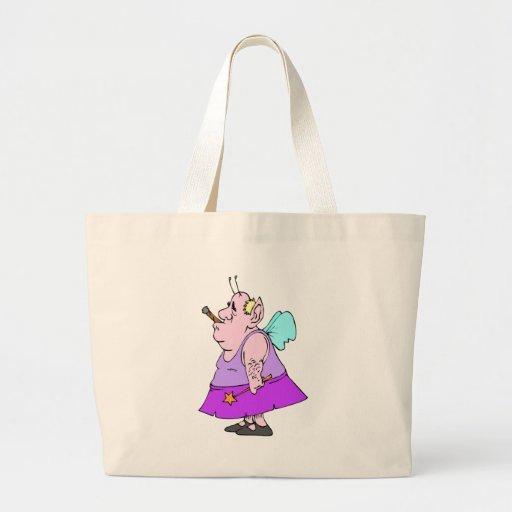 Funny Fairy Man Canvas Bag
