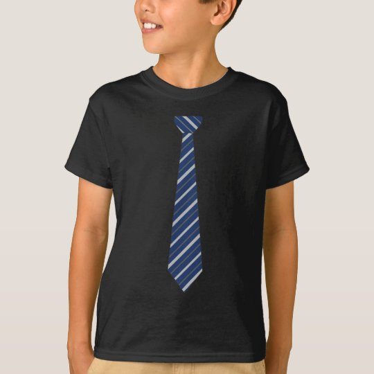 Funny Fake Blue Striped Tie T-Shirt