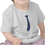 Funny Fake Blue Striped Tie T Shirts