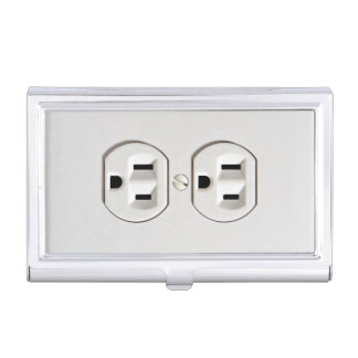 Funny Fake Electrical Outlet Business Card Holder