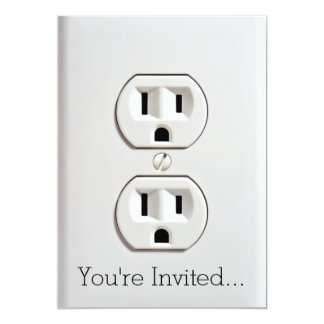 Funny Fake Electrical Outlet Card