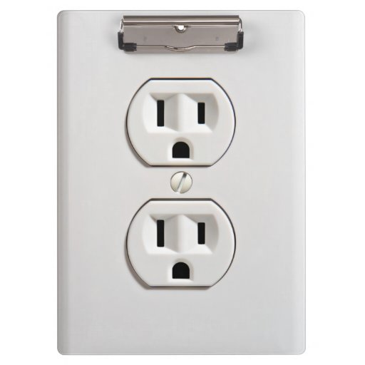 Funny Fake Electrical Outlet Clipboard