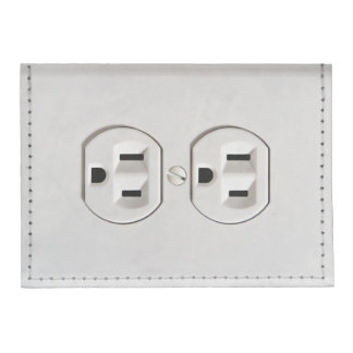 Funny Fake Electrical Outlet Flat Wallet