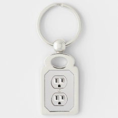 Funny Fake Electrical Outlet Keychain at Zazzle