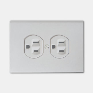 Funny Fake Electrical Outlet Post-it Notes