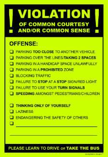 White elephant gifts custom gift ideas zazzle funny fake parking ticket driving citation post it notes solutioingenieria Images