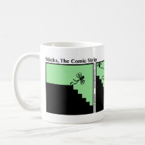 Funny Fall Down the Stairs Stickman Mug - 003