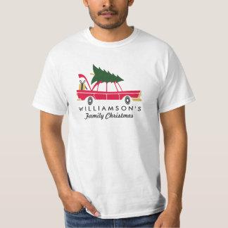 Funny Family Christmas Bringing Home Xmas Tree T-Shirt