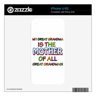 Funny family designs iPhone 4 decal