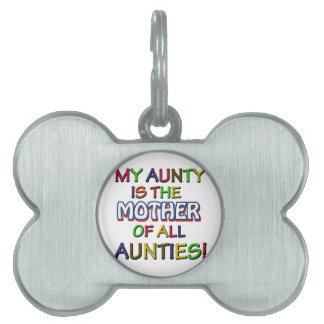 Funny family designs pet ID tag