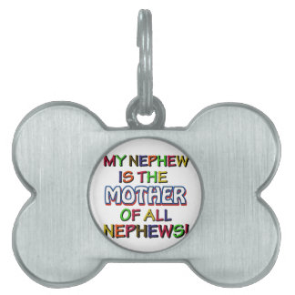 Funny family designs pet ID tags
