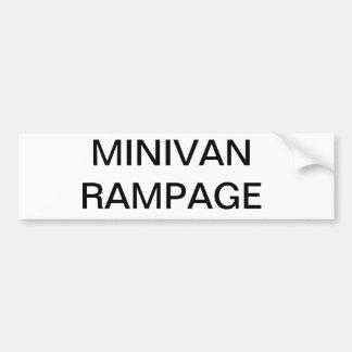 Funny family minivan bumber sticker