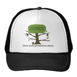 Funny Family Nut Tree Ball Cap Trucker Hats