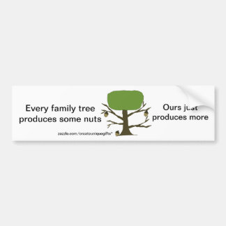 Funny Family Nut Tree Bumper Sticker