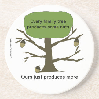 Funny Family Nut Tree Coaster