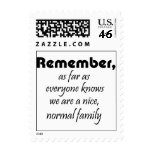Funny family quotes postage stamps