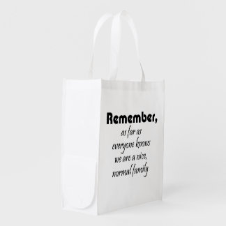 Funny family quotes reusable tote bags gag gifts market totes