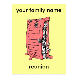 funny family reunion postcard