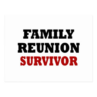 Funny Family Reunion Survivor Postcard