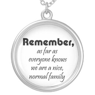 Funny family saying necklaces retail item gift