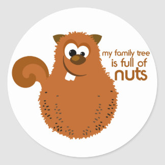Funny Family Tree Squirrel Stickers