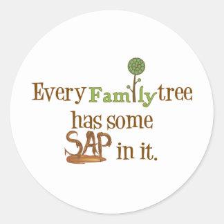 Funny FamilyTree Classic Round Sticker