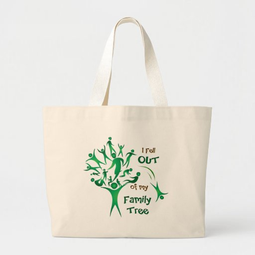 Funny FamilyTree Jumbo Tote Bag