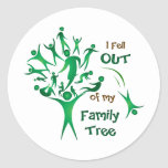 Funny FamilyTree Round Sticker