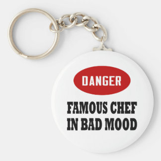Funny Famous Chef Basic Round Button Keychain