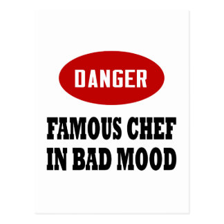 Funny Famous Chef Post Card
