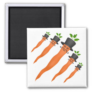 Funny fancy carrots magnet