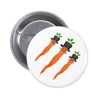 Funny fancy carrots pinback button
