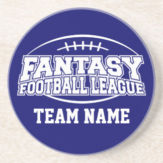 Funny Fantasy Football FFL Gift - Customize it Sandstone Coaster