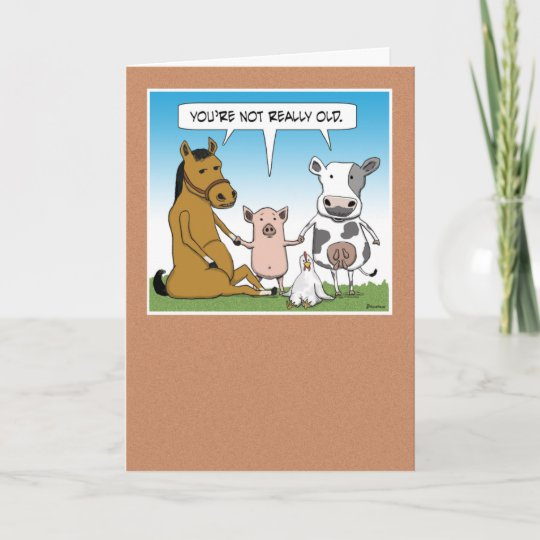 Funny Farm Animals Birthday Card Zazzle