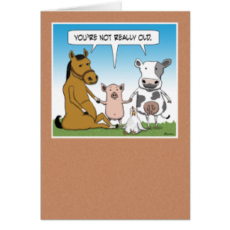 Funny Farm Animals Birthday Card
