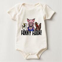 Funny Farm Baby Bodysuit
