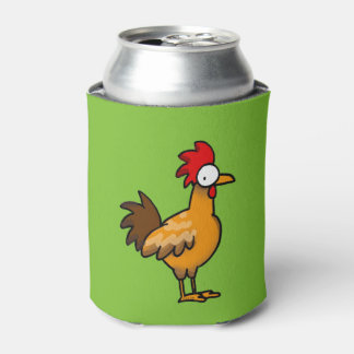 funny farm chicken rooster can cooler