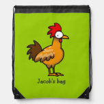 funny farm chicken rooster - just add name cinch bags