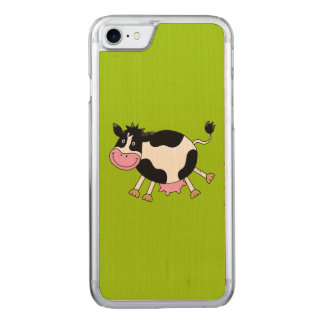 funny farm dancing cow carved iPhone 7 case
