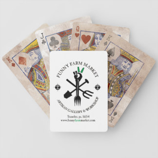 Funny Farm Market And Artisan Gallery Bicycle Card Deck