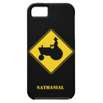Funny Farm Tractor Road Sign Warning iPhone SE/5/5s Case