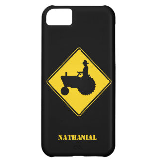 Funny Farm Tractor Road Sign Warning Cover For iPhone 5C