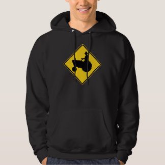 Funny Farm Tractor Road Sign Warning Hoodie