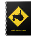 Funny Farm Tractor Road Sign Warning Journals
