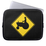 Funny Farm Tractor Road Sign Warning Computer Sleeves