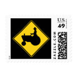 Funny Farm Tractor Road Sign Warning Postage Stamps
