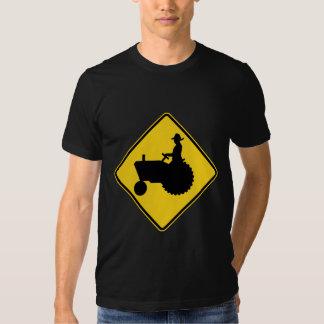 Funny Farm Tractor Road Sign Warning Shirts